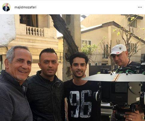 بازیگر کرگدن در کنار مجید مظفریو ساعد سهیلی + عکس