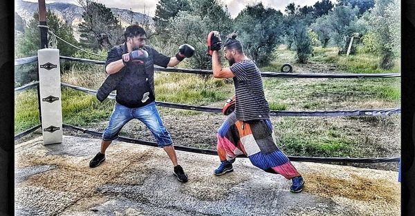 ورزش خشن نیما شاهرخ شاهی در خارج از کشور+عکس