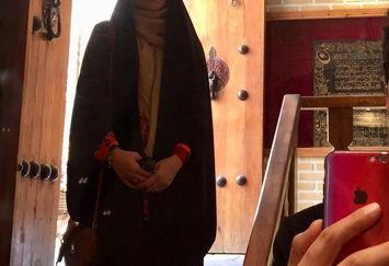 خانم خبرنگار و رونمایی بخشی از همسرش+عکس