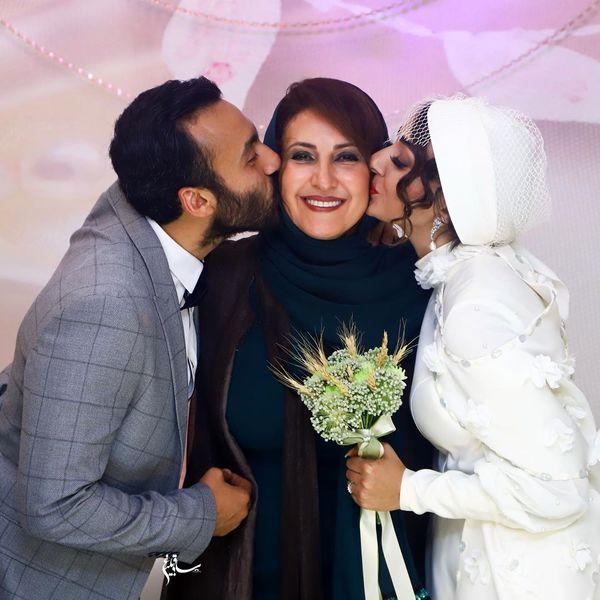عکس فاطمه گودرزی در عروسی بچه شیرش!+عکس