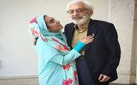 مرحوم جمشید مشایخی و نوه مهربانش+عکس