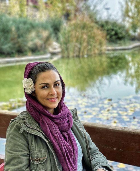 شیوا ابراهیمی در کنار دریاچه ای زیبا + عکس