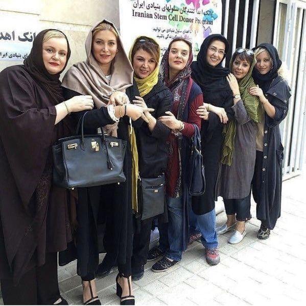 جمعی از بازیگران خانم معروف در کنار هم + عکس
