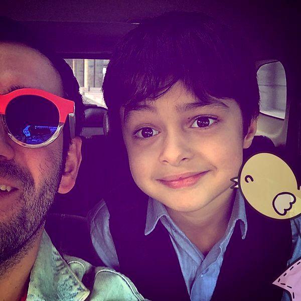 گردش پسر شهاب حسینی با نیمای خندوانه+عکس