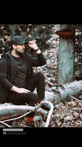دانیال عبادی در جنگل + عکس