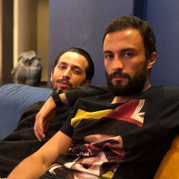 امیر جدیدی در کنار دوست صمیمی اش + عکس