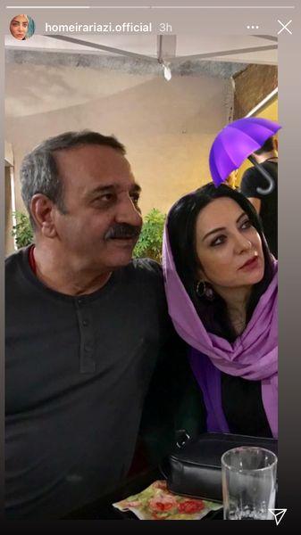 حمیرا ریاضی و همسرش + عکس