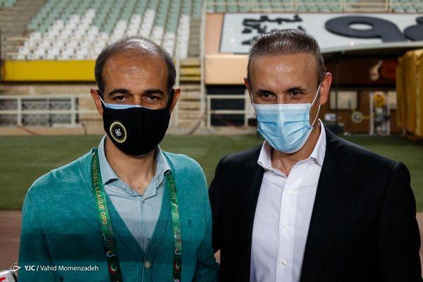 عکس یادگاری دو مربی فوتبال+عکس