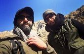 کوهنوردی علیرضا رئیسی با دوستش + عکس