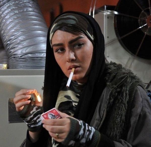 سحر قریشی در حال استعمال دخانیات /عکس