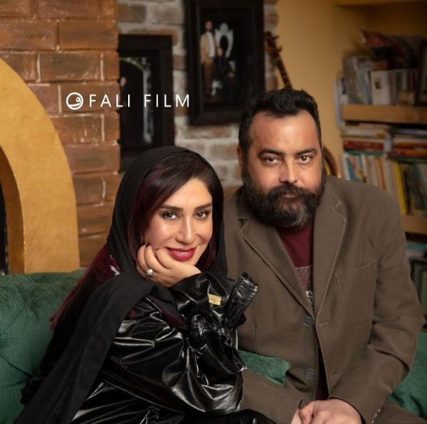 نسیم ادبی در کنار همسرش + عکس