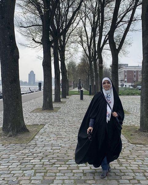مژده لواسانی در خیابان های اروپا + عکس