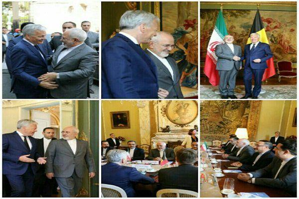 ظریف با همتای بلژیکی خود دیدار کرد