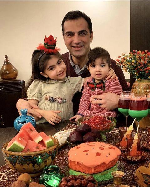 شب یلدای خانه بازیگر مشهور + عکس