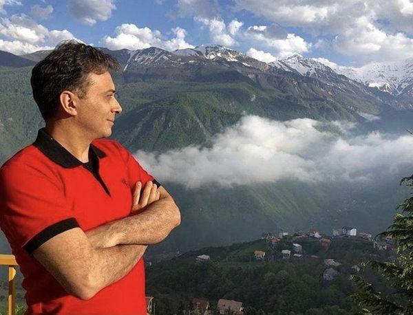 مجید اخشابی در ارتفاعات زیبا + عکس
