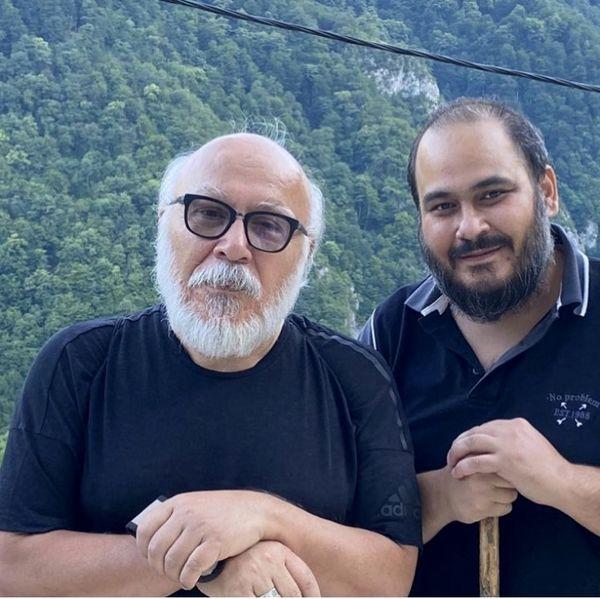 رضا داودنژاد و پدرش + عکس