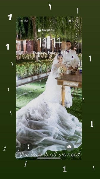 عکس عروسی پسر و عروس فاطمه گودرزی