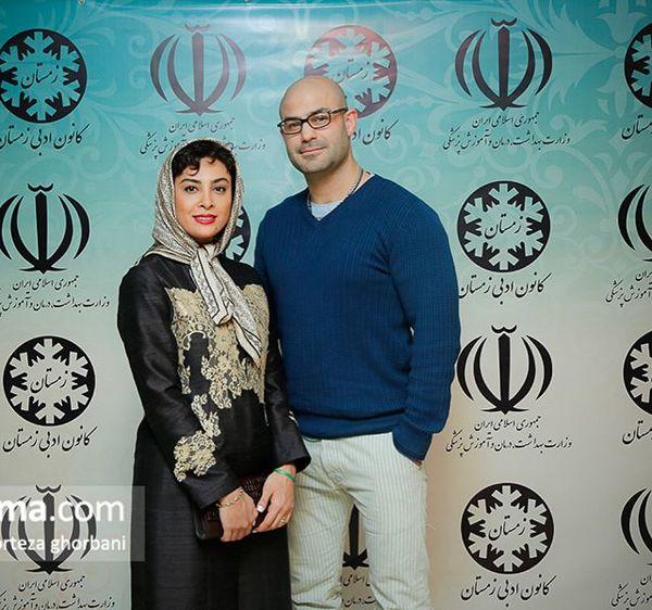 تیپ خانومانه حدیثه تهرانی در کنار همسرش+عکس
