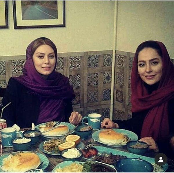 سحر قریشی و سمانه پاکدل در یک رستوران + عکس