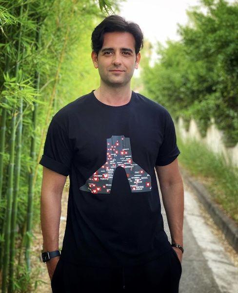 تی شرت خاص امیرحسین آرمان + عکس
