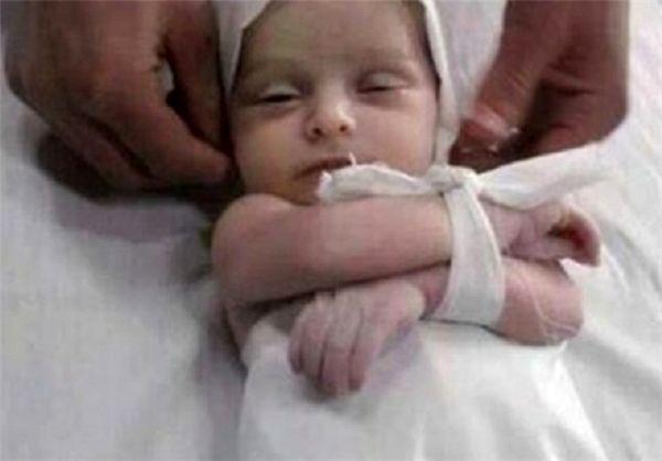 شهادت کودک هشت ماهه فلسطینی در نوار غزه/ عکس