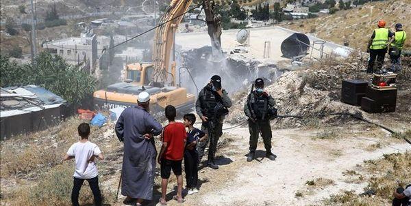 تخریب 11 خانه متعلق به فلسطینیان توسط ارتش رژیم صهیونیستی