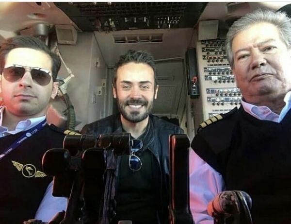 کاوه سماک باشی و دوستان خلبانش + عکس