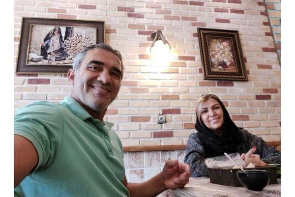 عقاب آسیا در کنار همسرش + عکس