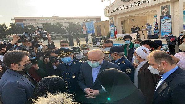 برگزاری مراسم تشییع پیکر خلبان شهید بیرجند بیک محمدی با حضور دکتر قالیباف
