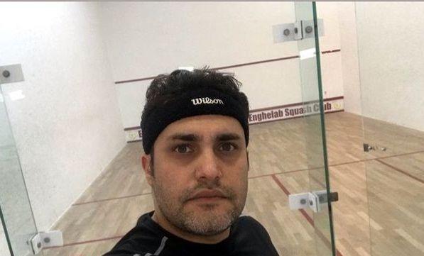 امیرمحمد زند در باشگاه اسکواش + عکس
