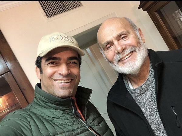 سلفی منوچهر هادی با پیشکسوت سینمای ایران + عکس