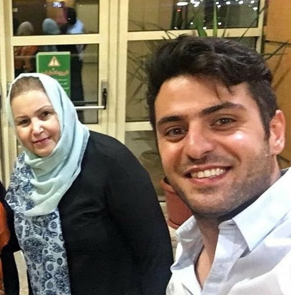 علی ضیا و مادر فرهنگی اش+عکس