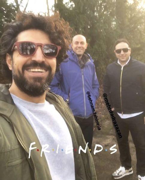 اشکان خطیبی و دوستانش + عکس