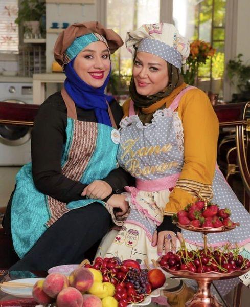 لباس آشپزی بهاره رهنما در خانه + عکس