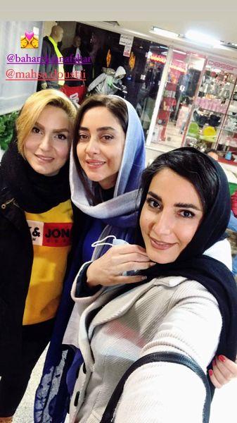 پاساژ گردی بهاره کیان افشار با دوستانش + عکس