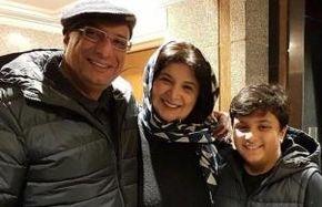 امیر جعفری و ریما رامین فر در لحظه تحویل سال نو/ عکس