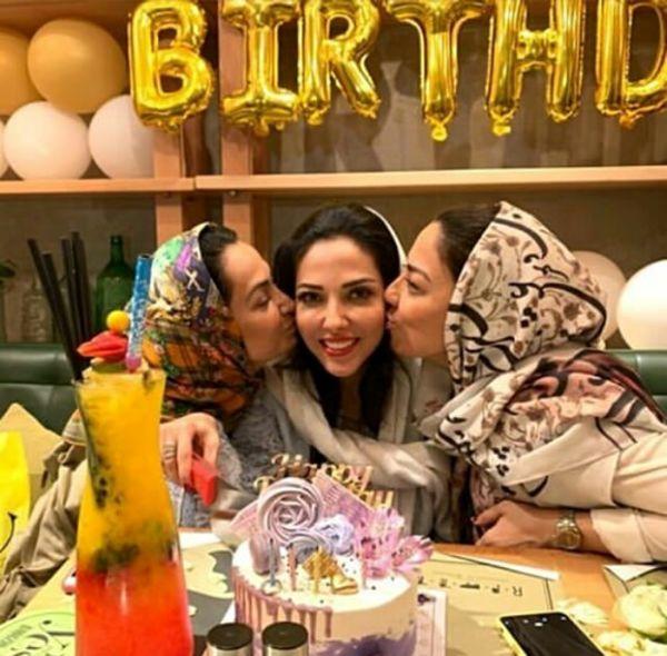 تولد ژیگول لیلا اوتادی و خواهرانش در کافه+عکس
