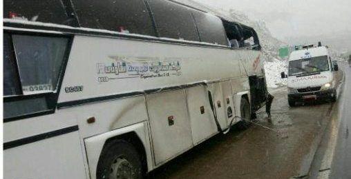 برخورد کامیون و اتوبوس در جاده هراز هفت مصدوم برجای گذاشت