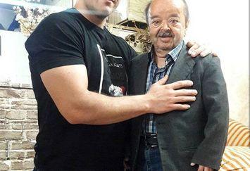مرد کوچک سینما ایران و پسر قهرمانش+عکس