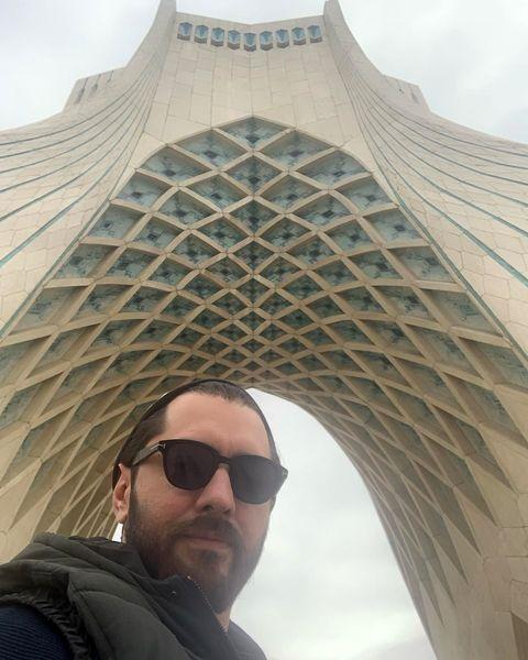 بهرام رادان وسط تهران+عکس
