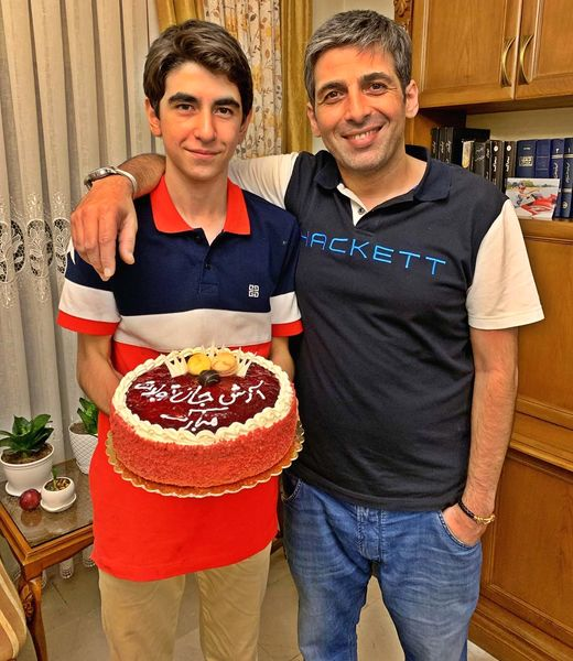 شباهت حمید گودرزی و برادر نوجوانش+عکس