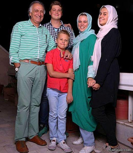 احمد نجفی و همسر روس او + عکس