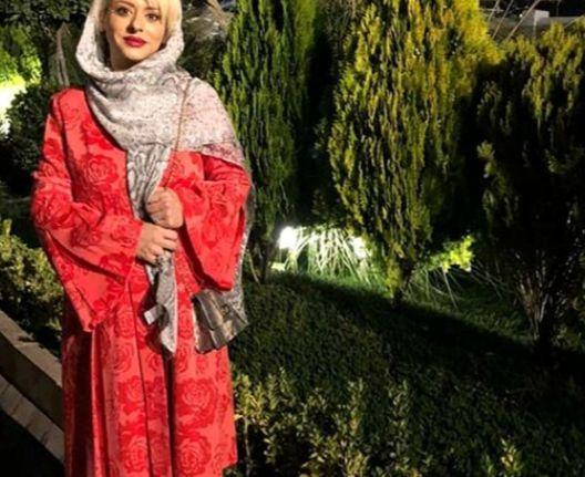 تیپ قرمز زهرا اویسی در طبیعتی زیبا+عکس