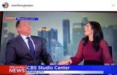 نظر خانم مجری نسبت به ترس همکارش در هنگام زلزله+عکس