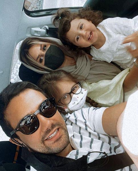 خانواده ۴نفره شاد شاهرخ استخری + عکس