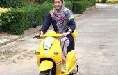 موتورسواری کیمیا علیزاده در شمال کشور+عکس