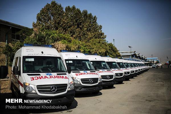 بهره برداری از ۴۰۰ دستگاه آمبولانس اورژانس کشور