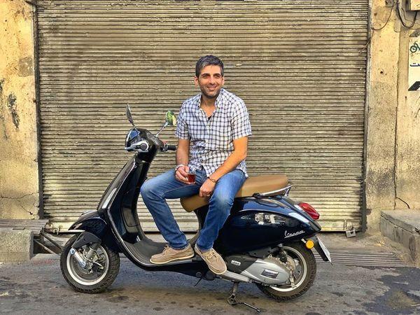 موتورسیکلت بازیگر مشهور + عکس