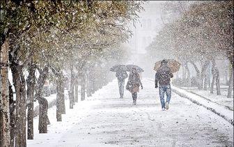 پیش بینی بارش شدید برف در جاده چالوس