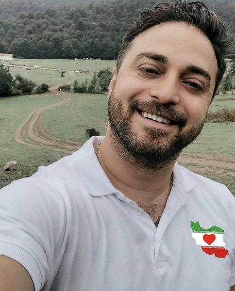 بابک جهانبخش در دل طبیعت + عکس